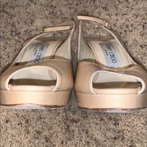 Jimmy Choo Shoes - Jimmy Choo Nova patent platform slingback/Size 6.5
